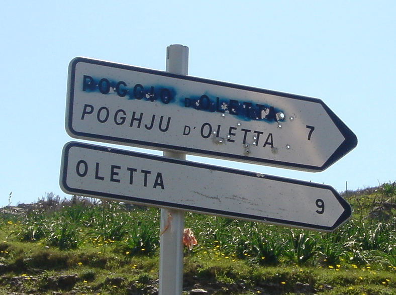 Corsica Street sign - Gamesforlanguage.com