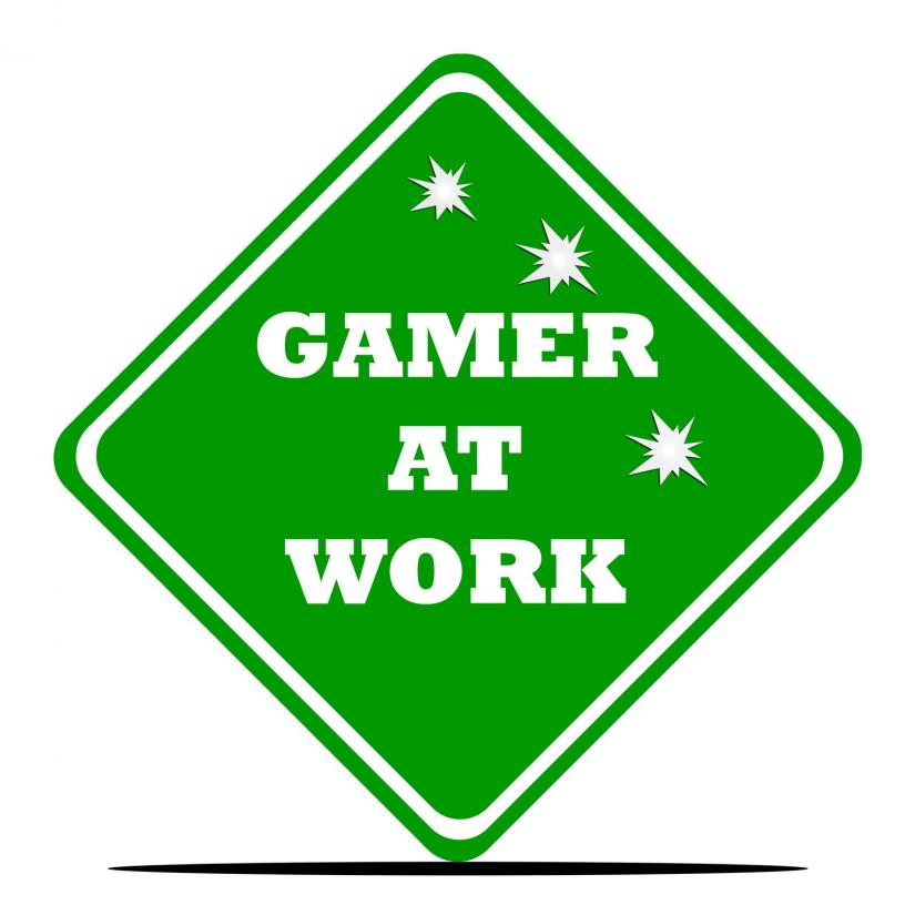 Gamer at work - Gamesforlanguage.com