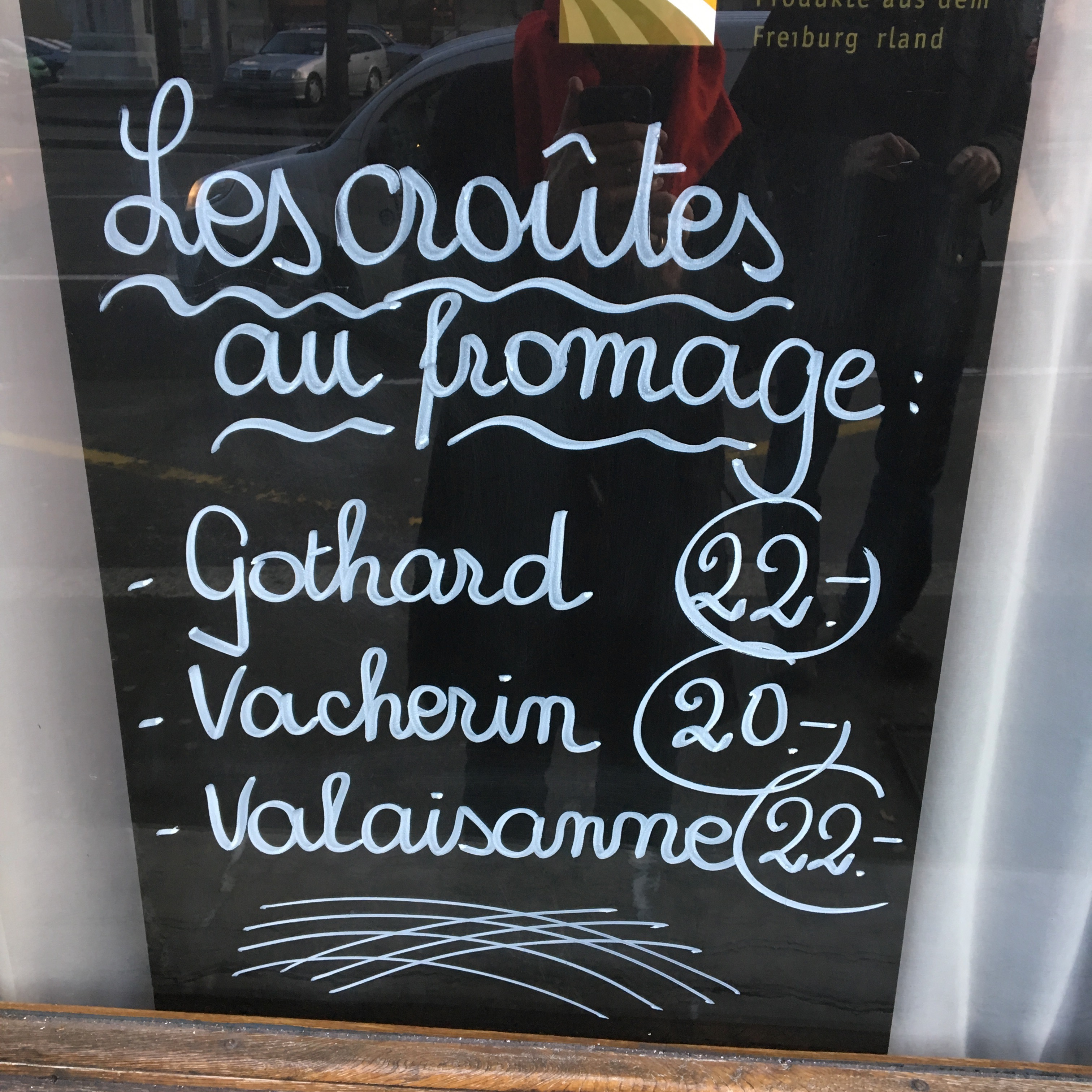 """Croutes au fromage"" sign - Gamesforlanguage.com"