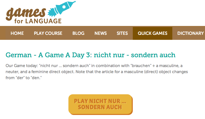 German - A Game A Day image