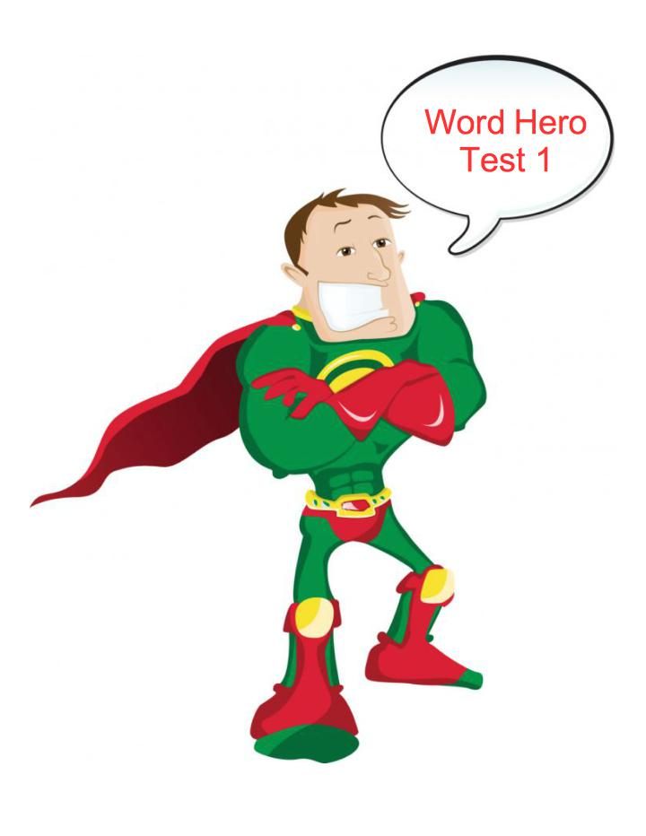 Word Hero - Test 1 - GamesforLanguage.com