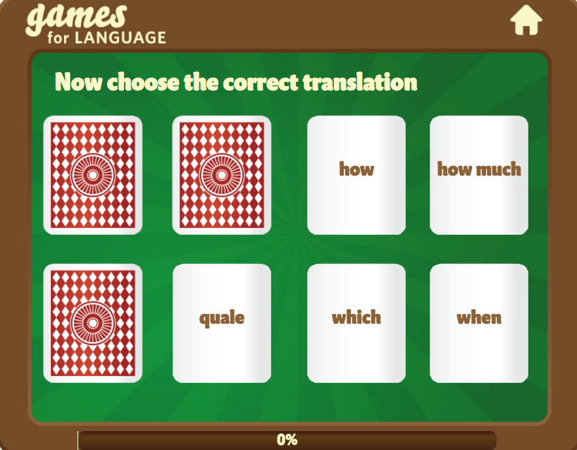 Question words game - Gamesforlanguage.com