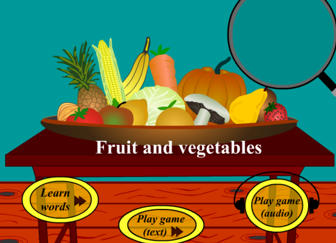 Digital Dialects Fruits and Vegetables Game