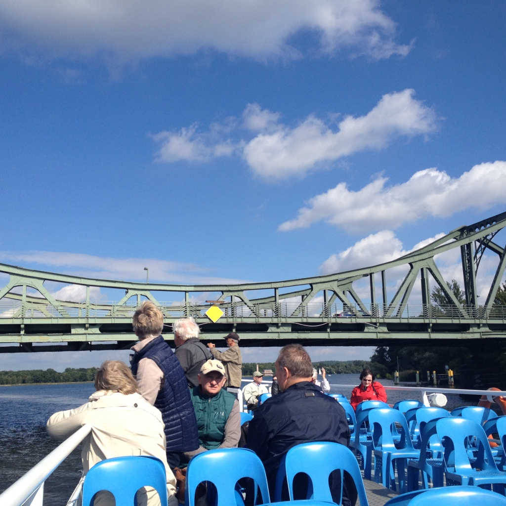 View of Glienicke Bridge, Potsdam from water - Gamesforlanguage.com