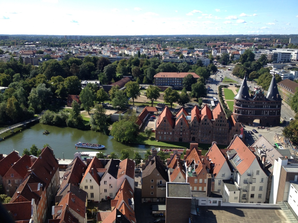 Lübeck from above - Gamesforlanguage.com