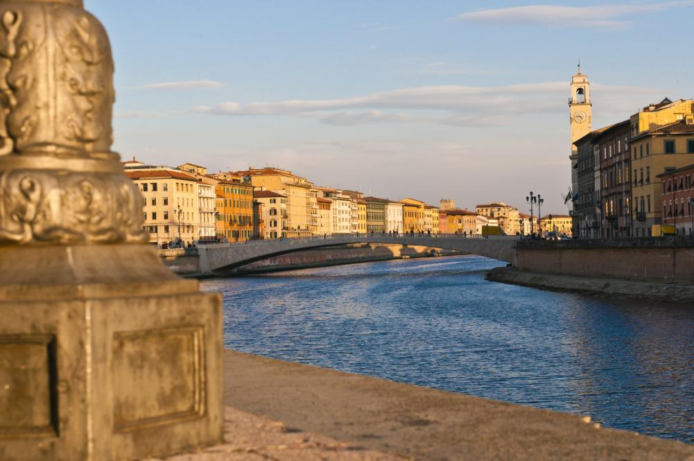 View of Arno  river in late afternoon