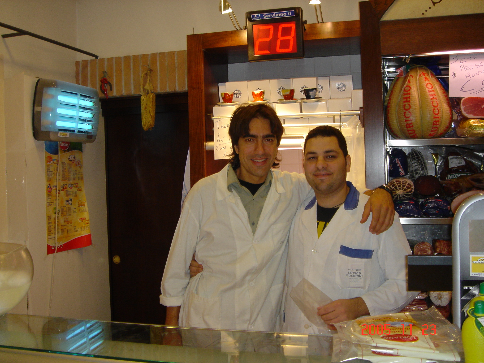 Roman and Guiseppe in Trastevere bakery