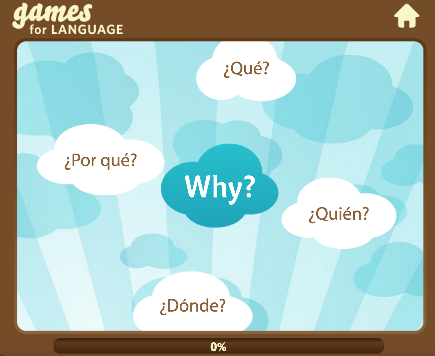 Spanish Question words Game - Gamesforlanguage.com