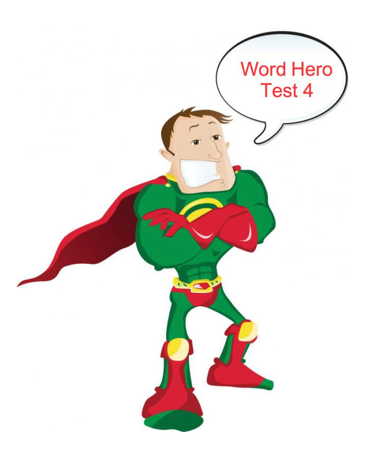 Word Hero -Test 4 - GamesforLanguage.com