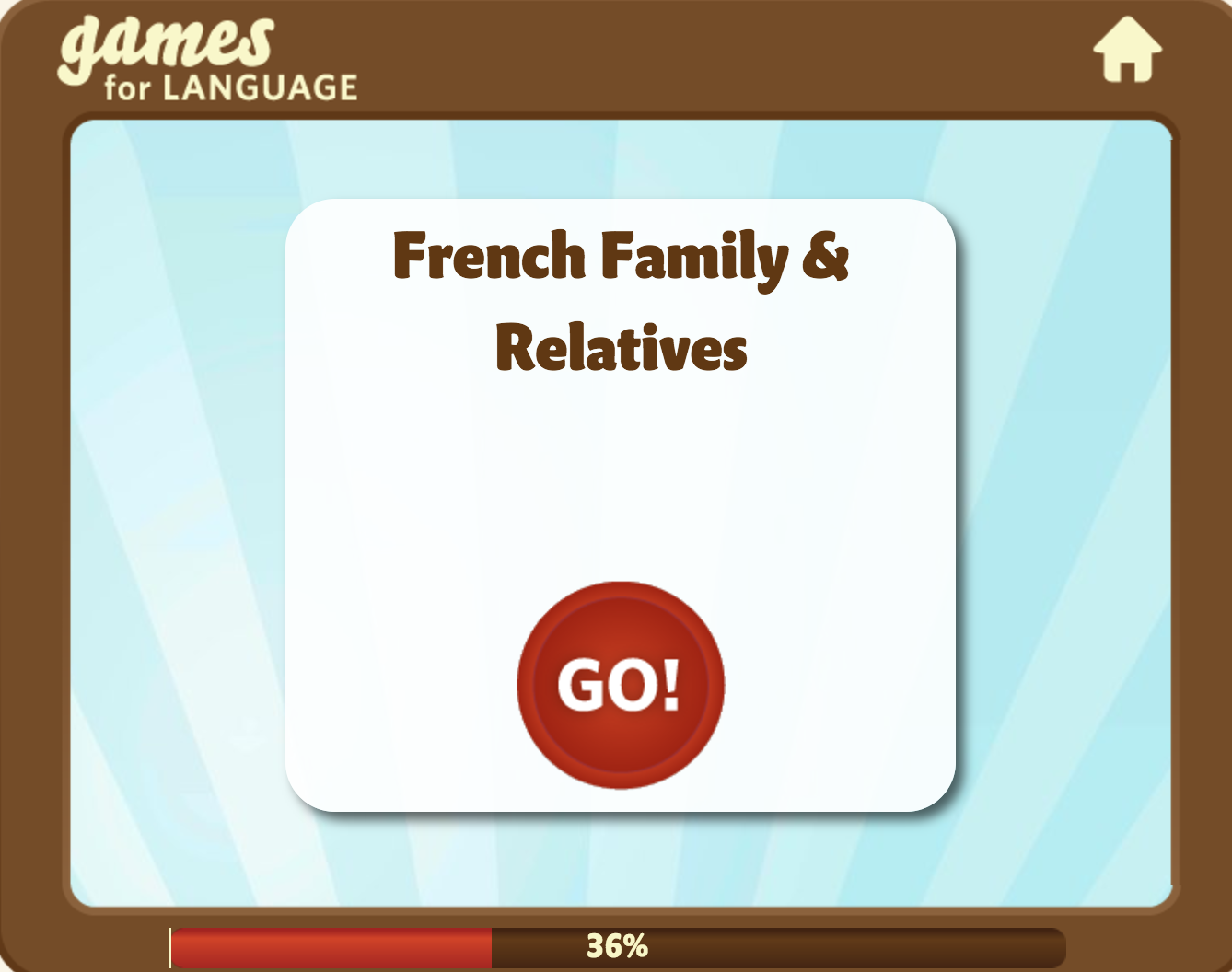 French family & relatives Games for Language Learning