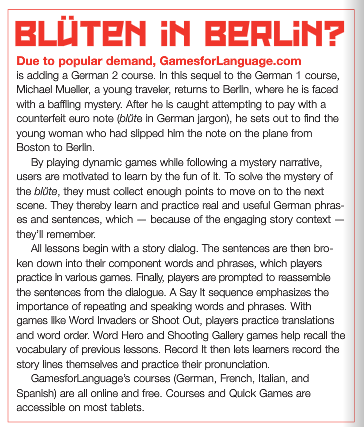 Language Magazine - Blüten in Berlin