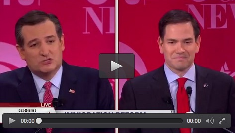 Cruz -Rubio debate  exchange