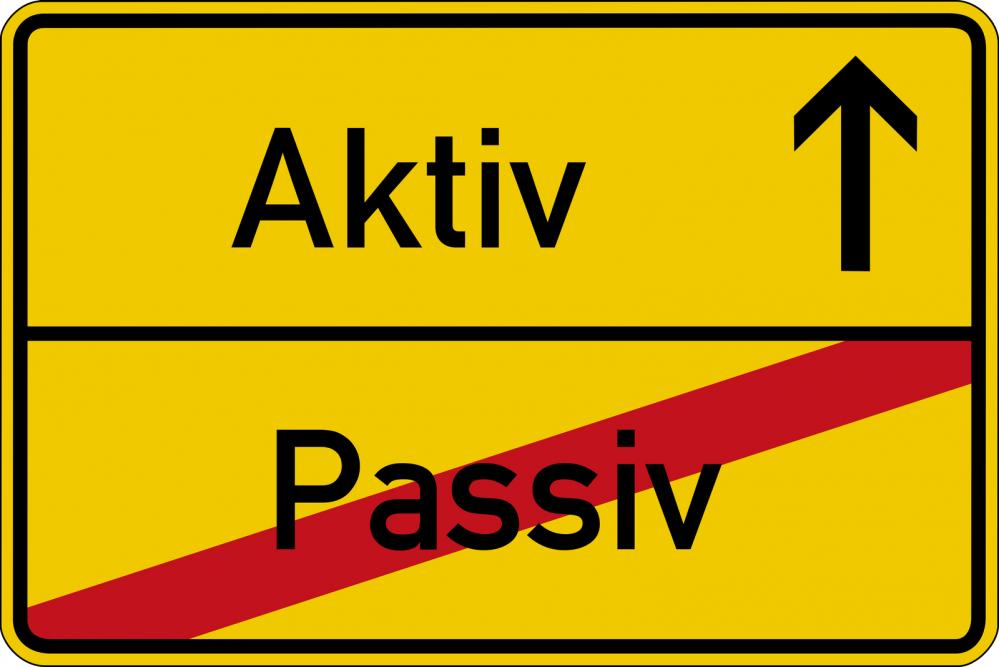 Active vs Passive sign - Gamesforlanguage.com
