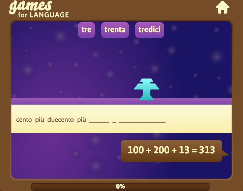 Italian number 21+ - Gamesforlanguage.com