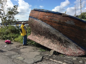 old ship hull in Christiana