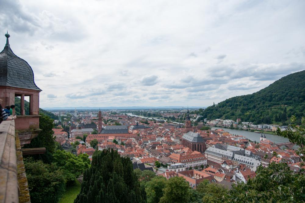 View from Heidelberg castle where Mark Twain made travel memories