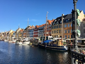 View of Nyhavn in Copenhagen - Gamesforlanguage.com