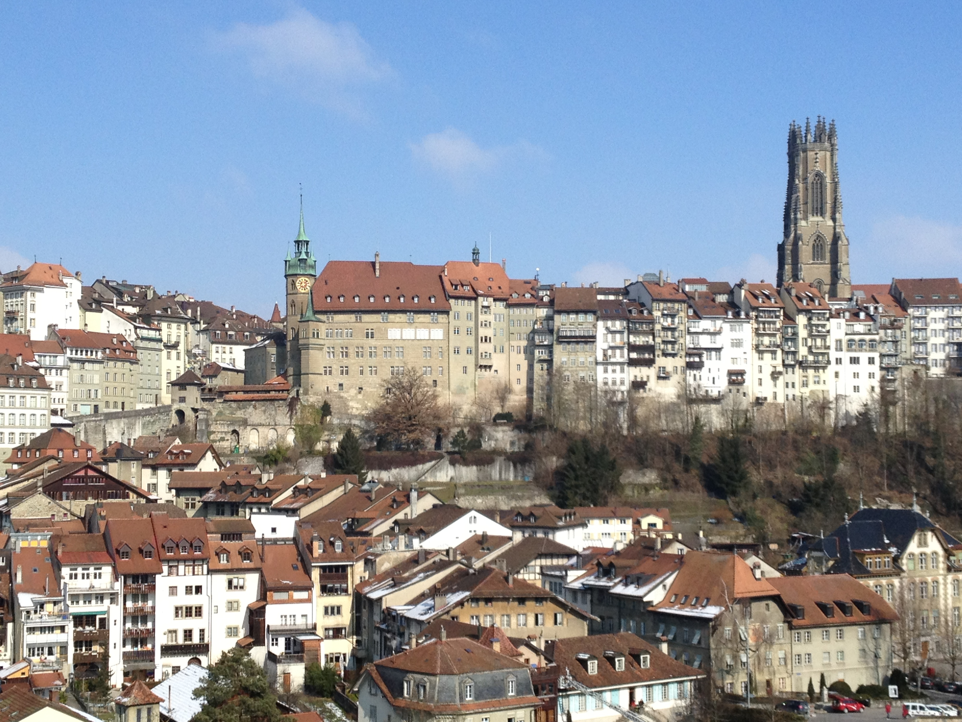 Upper and Lower City of Fribourg, Switzerland