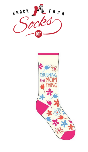 Knock your socks off logo and product