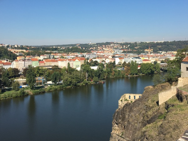 View of Prague from Vysehrad castle