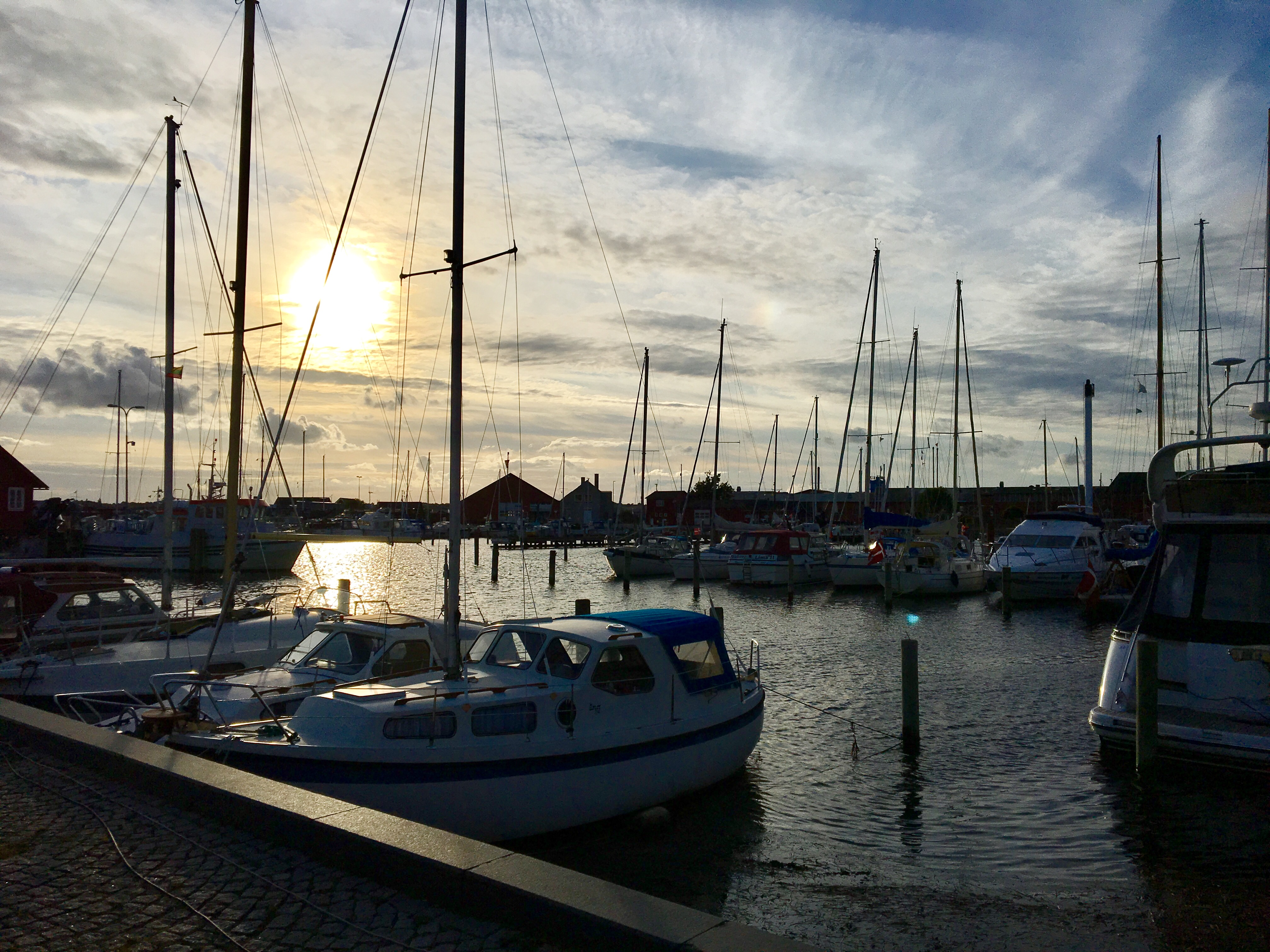 Faarborg Marina at sun set