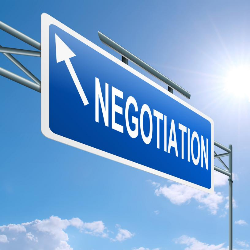 negotiations sign