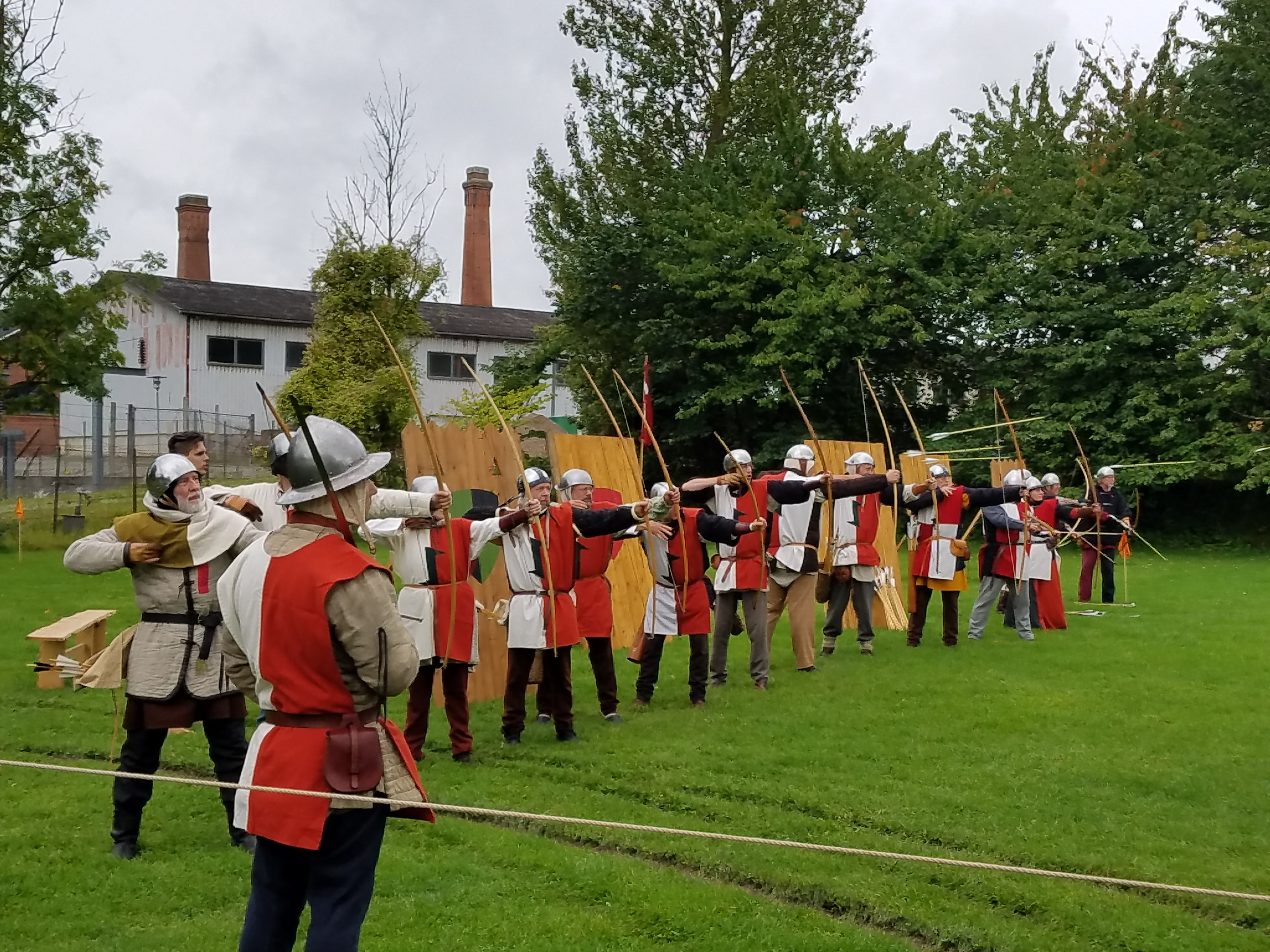 Nyborg medieval weekend with archers
