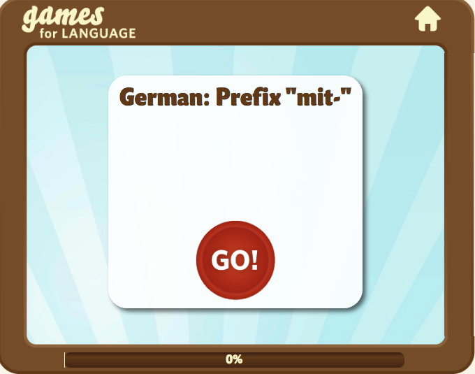 "Screenshot of of German prefix ""mit"" Quick Game"