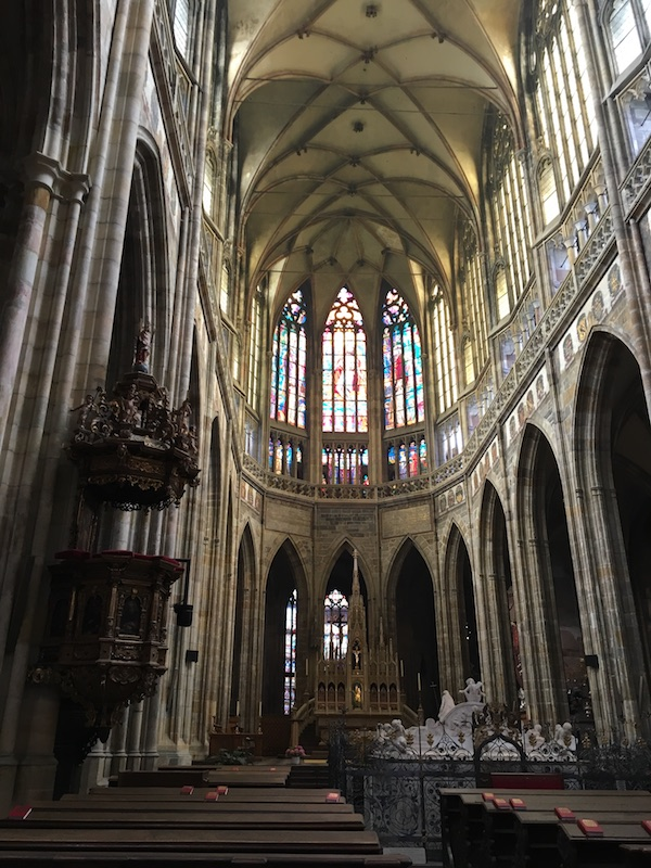 Main Nave of St Vitus Cathedral, Prague in 2018