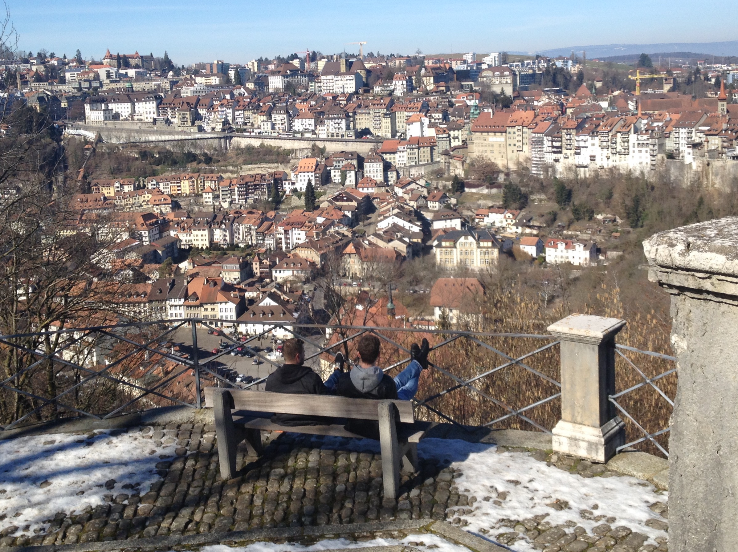 View of Fribourg upper and lower city