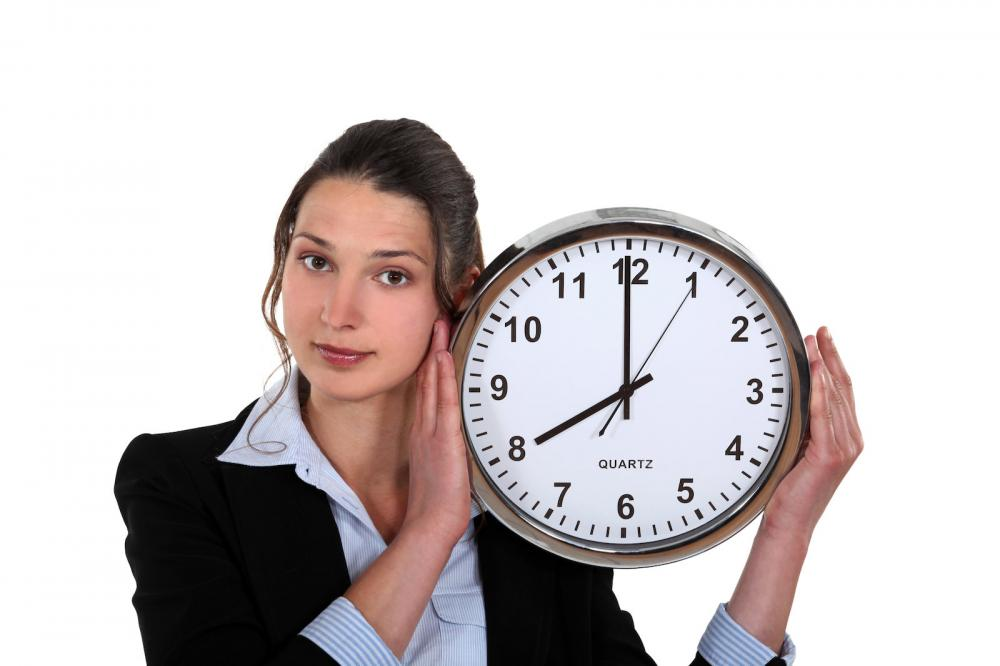 Woman showing time