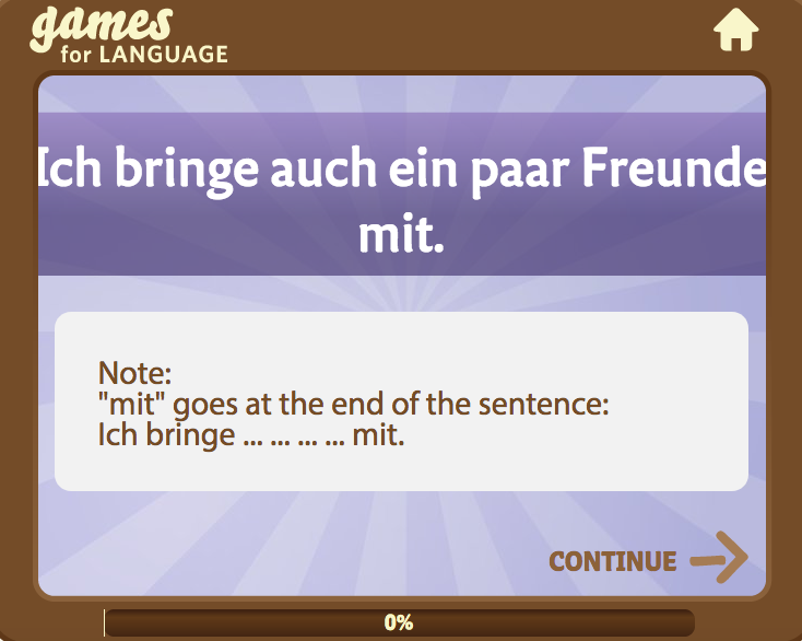 "Screenshot German ""mit"" Quick Game"