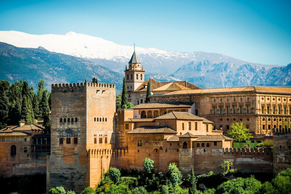 Travel Memories At Ancient Fortress Of Alhambra, Granada, Spain