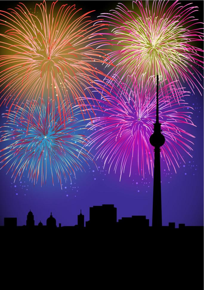 "Berlin's ""Langer Lulatsch"" with Fireworks""- Gamesforlanguage.com"