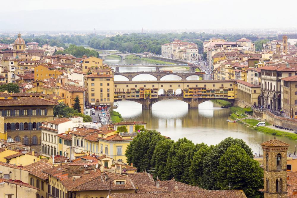 View of Florence and Veccio bridge