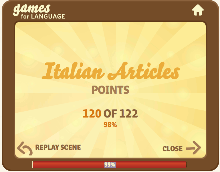 Italian articles Quick Language Game