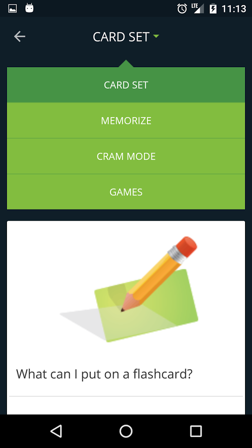 Cram app screenshot