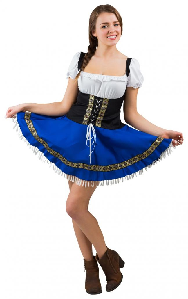 Octoberfest girl spreading her skirt - Gamesforlanguage.com