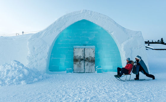 Swedish Ice Hotel Entrance