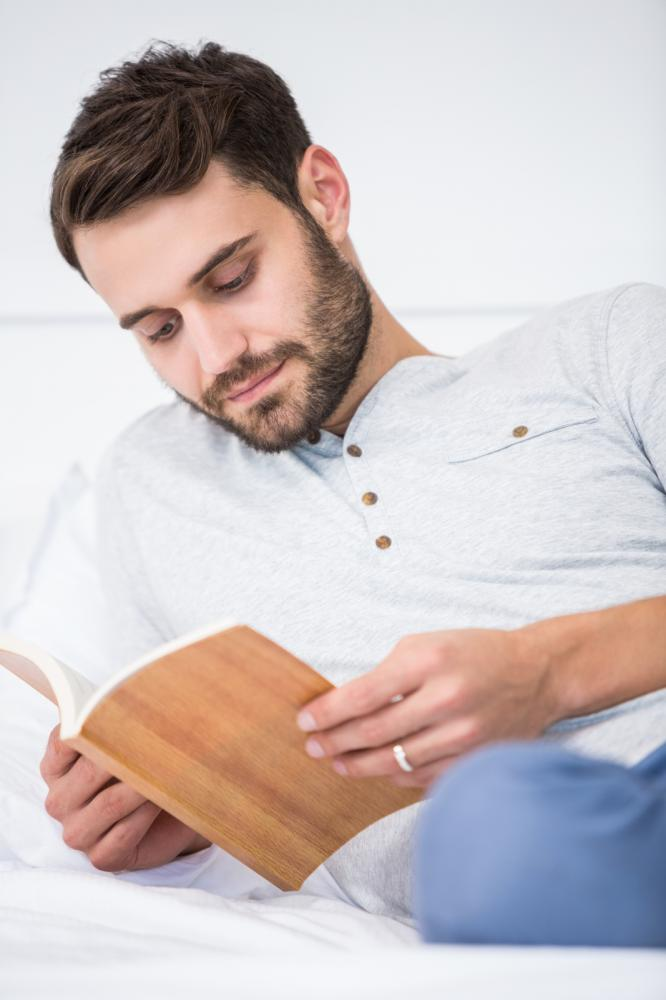 man reading a book - Yay images