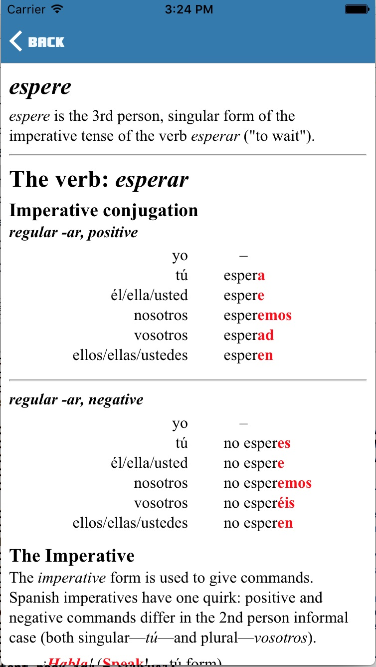 Supercoco: Grammar Explanation screen - Gamesforlanguage.com