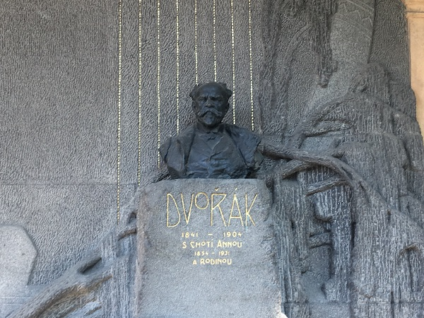 Dvorak's monument on Vysherad cemetery
