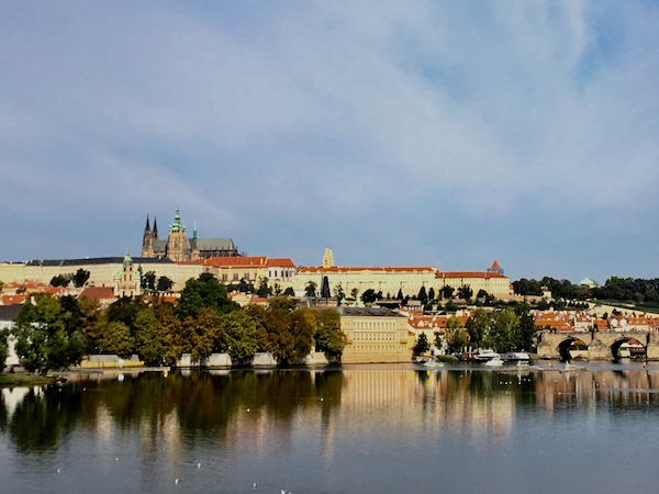 View of Castle & Charles Bridge, Prague in 2018