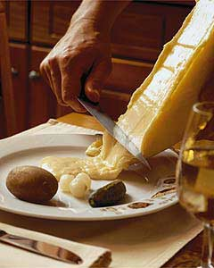 Traditional Raclette serving