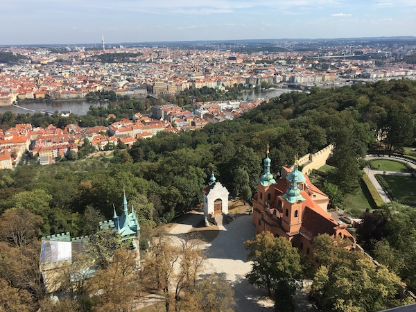 View of Prague from Petrin Tower, Prague in 2018