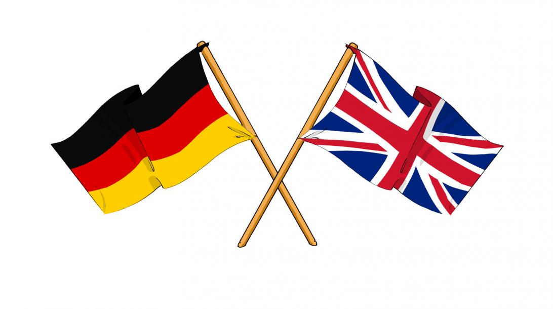 German-UK flags