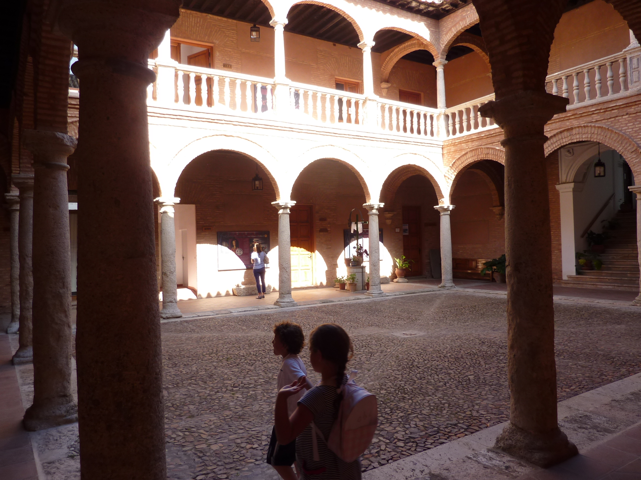 The courtyard of Fugger warehouse in Almagro, Spain