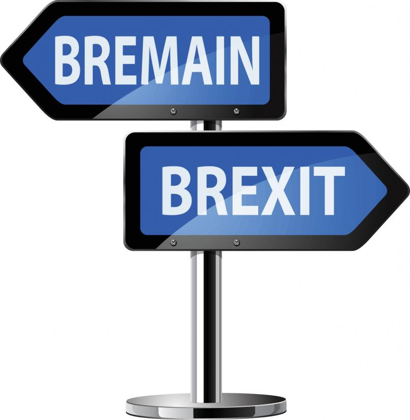 Brexit decision sign