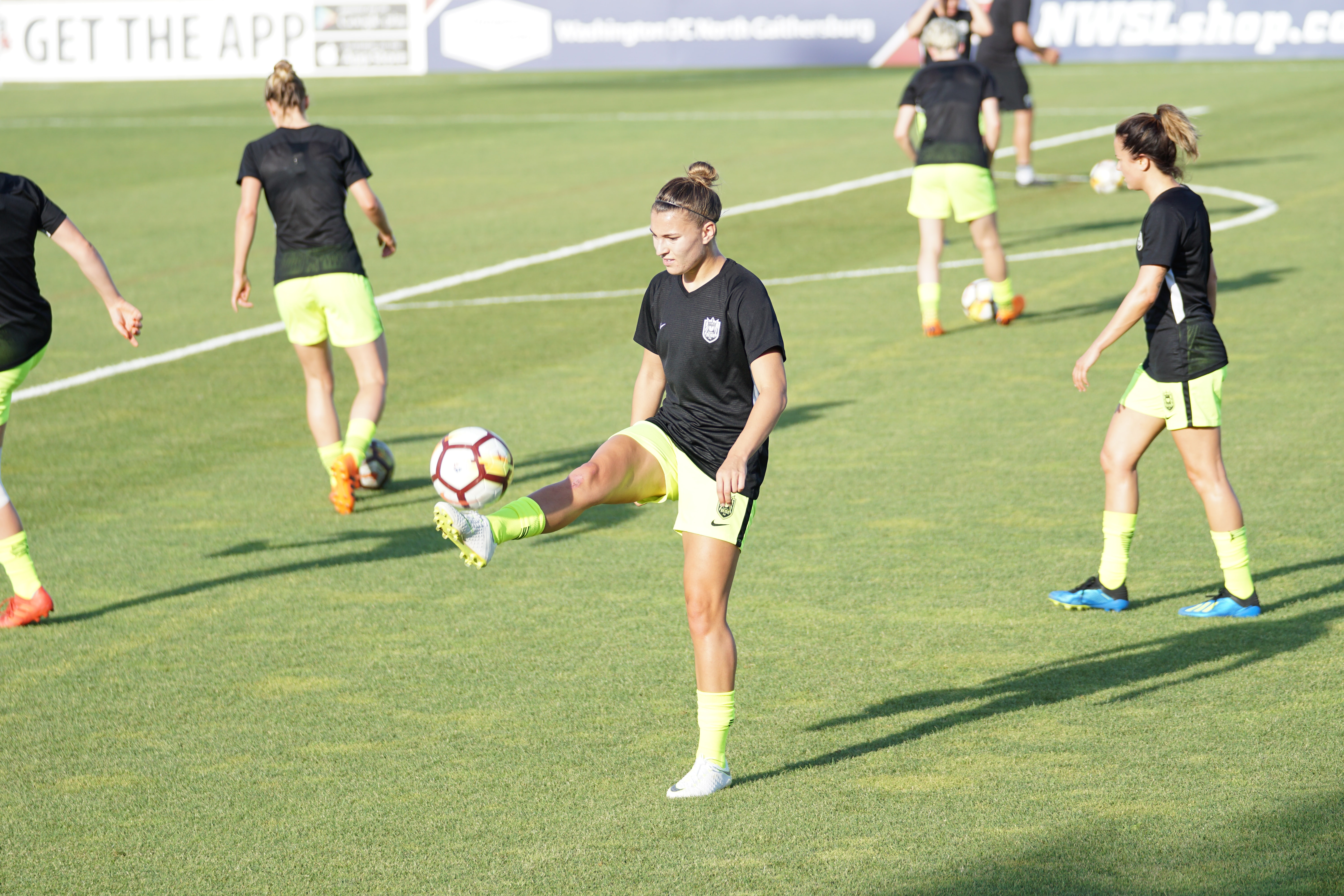 Women soccer training