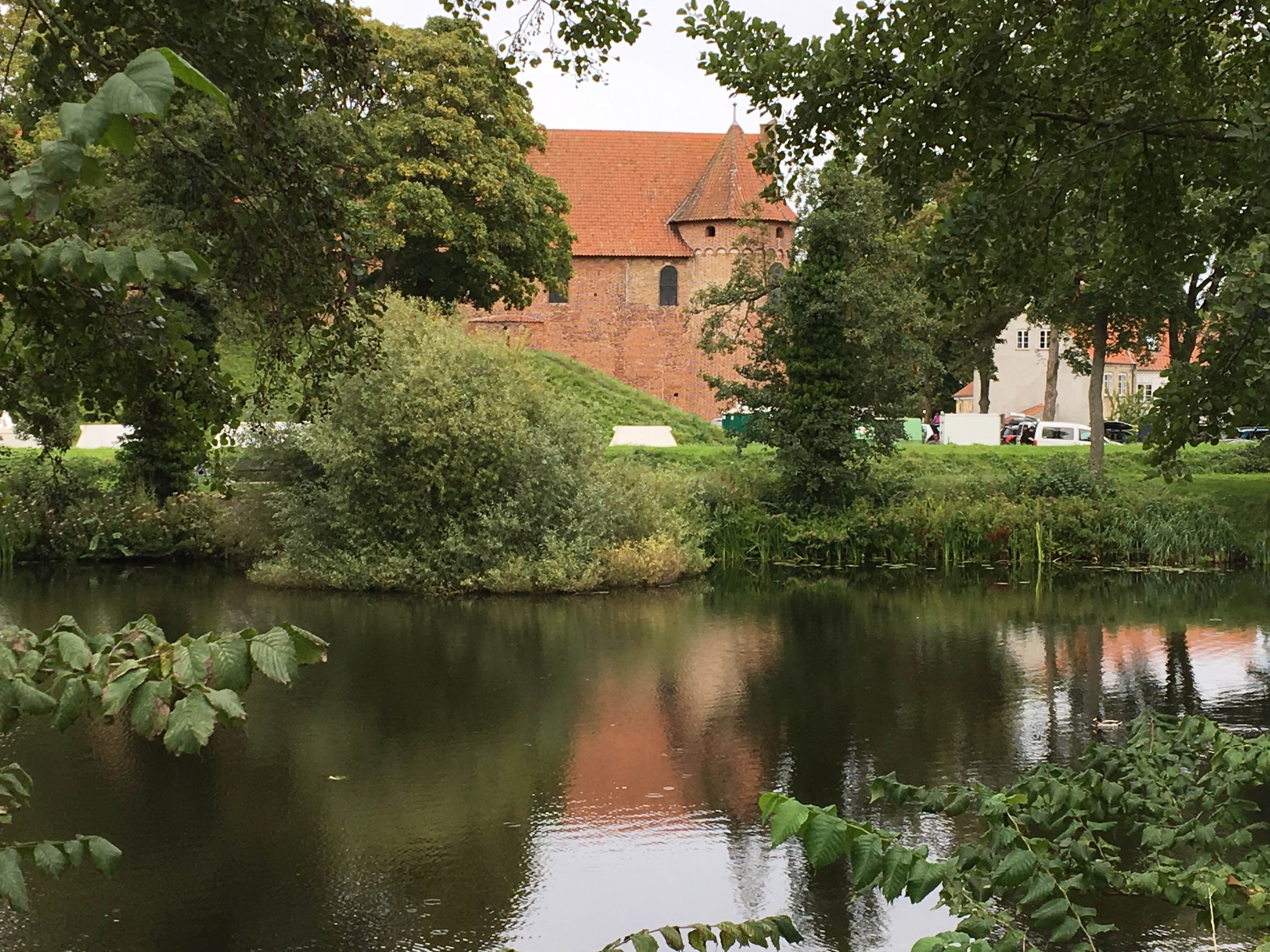 Nyborg castle across pond